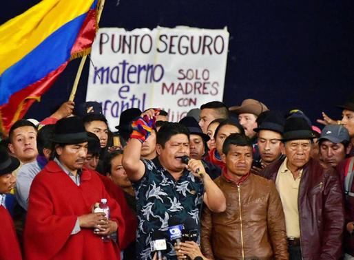 Grupos indígenas a favor del ex presidente Rafael Correa apoyaron las protestas de octubre