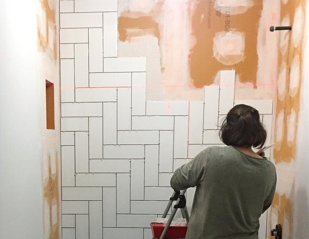 Tiling on Kerdi-board | Basement bathroom