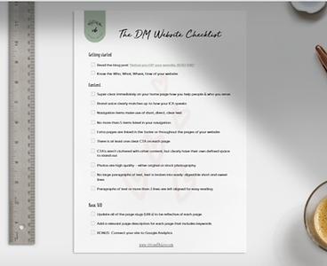 DIY Wellness Website checklist