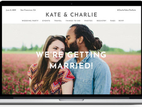 Benefits of having a website for your wedding day...