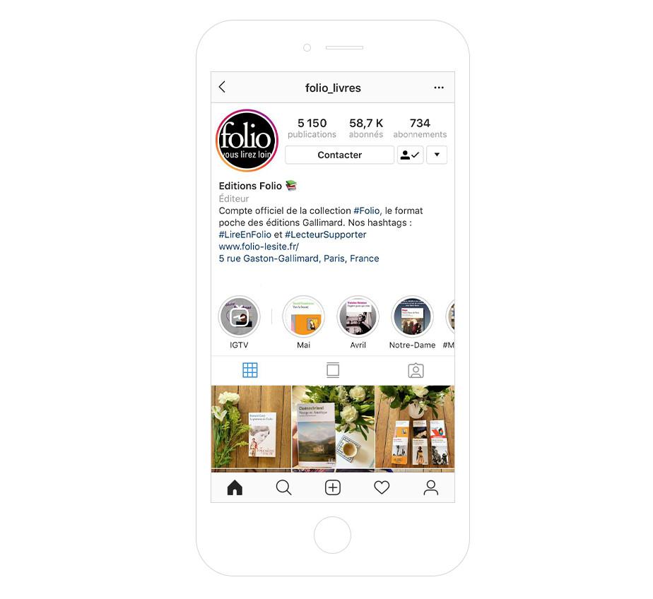 Folio - bio Instagram