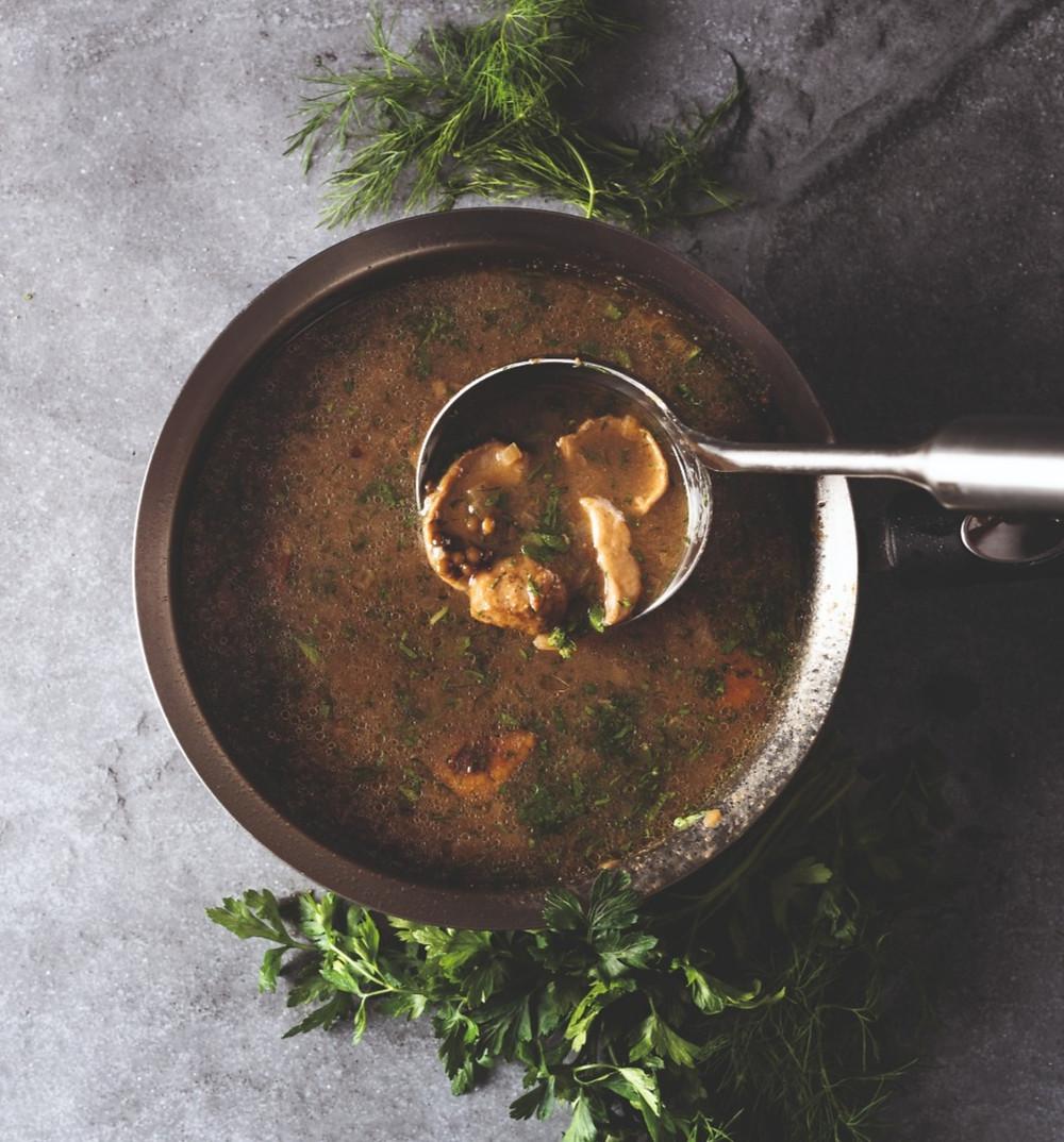 šviežių baravykų sriuba su lęšiais, Alfo receptai, vmgonline.lt, Alfas Ivanauskas