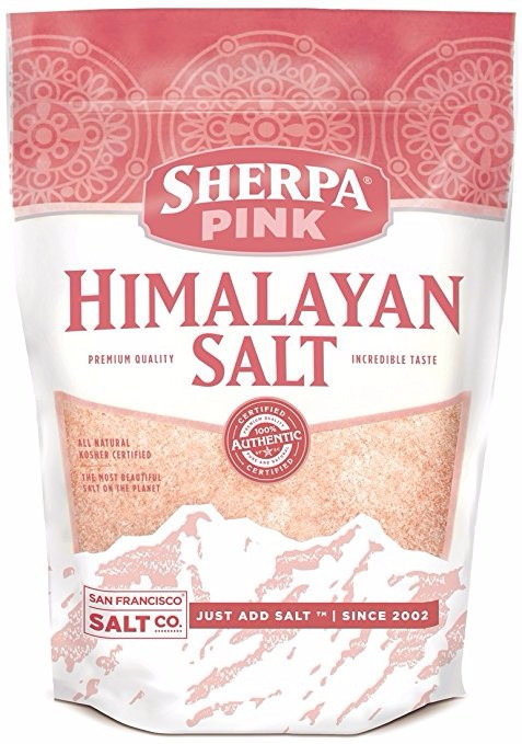 Bag of pink himalayan salt by San Francisco Salt Co