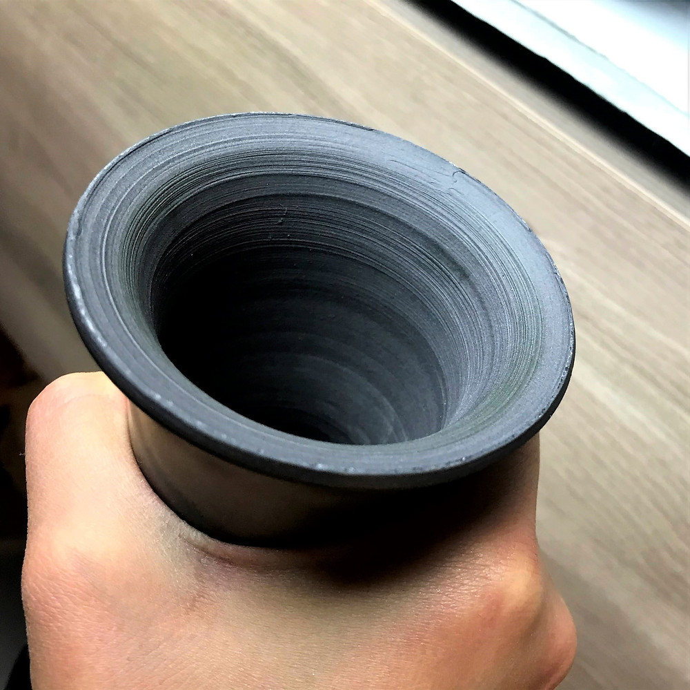 black porcelain ceramic pottery