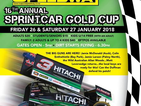 Sprintcar Gold Cup - 26 & 27 of January