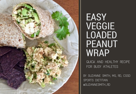 Easy Veggie loaded peanut wrap