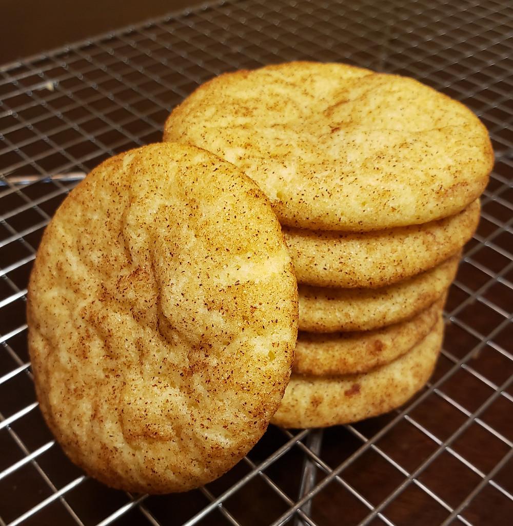Sugar cookie tossed in cinnamon sugar