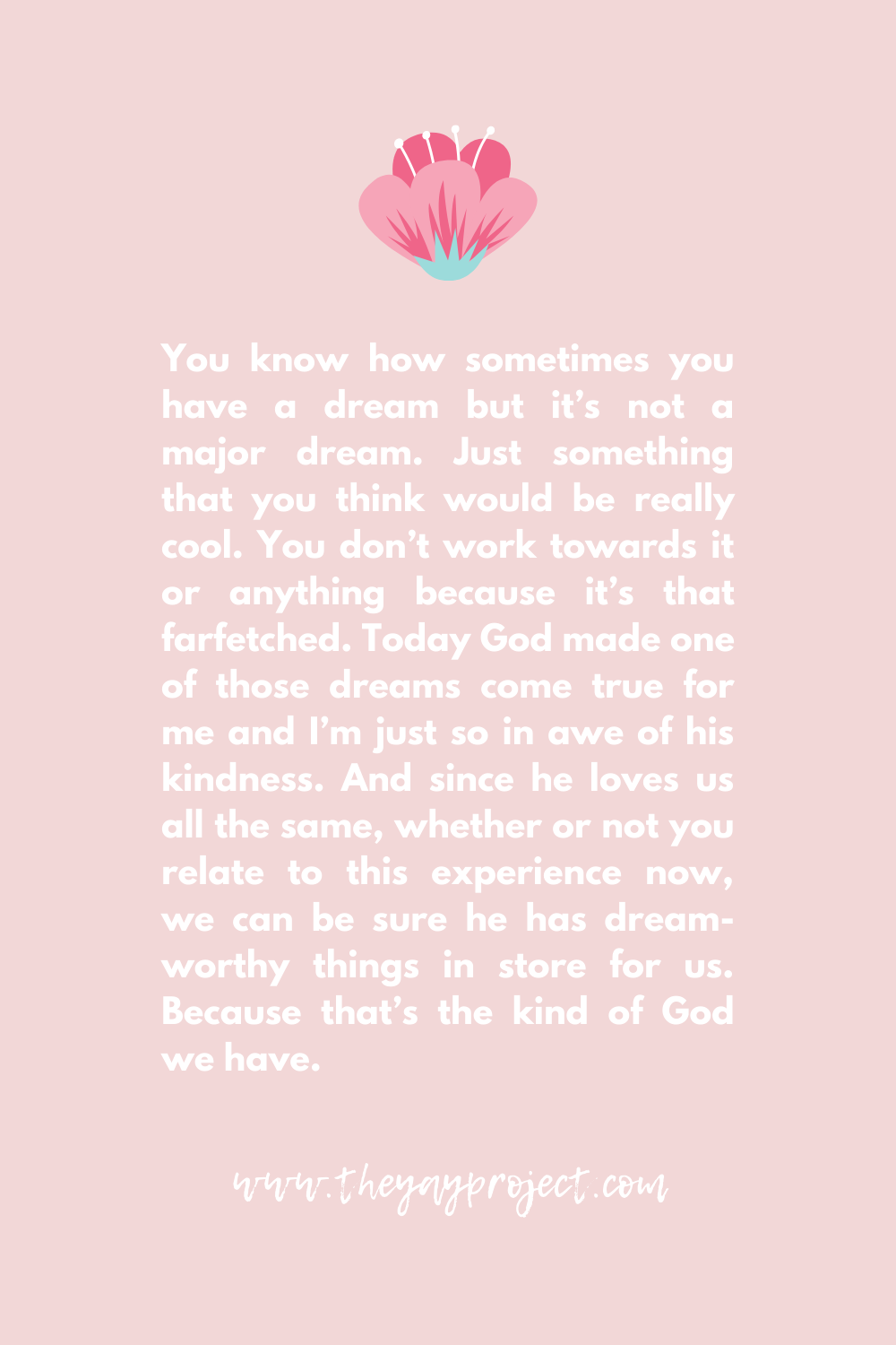 Christian prayer encouragement blog by The Yay Project