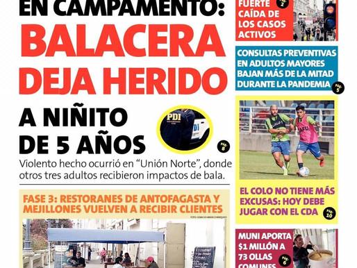 10 DE NOVIEMBRE | TITULARES DE LOS PRINCIPALES DIARIOS DE NUESTRA REGIÓN
