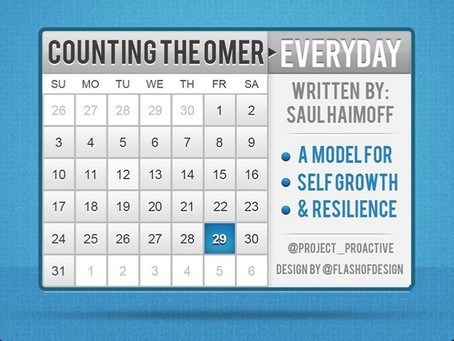 COUNTING THE OMER EVERY DAY: A Model for Self-Growth & Resilience