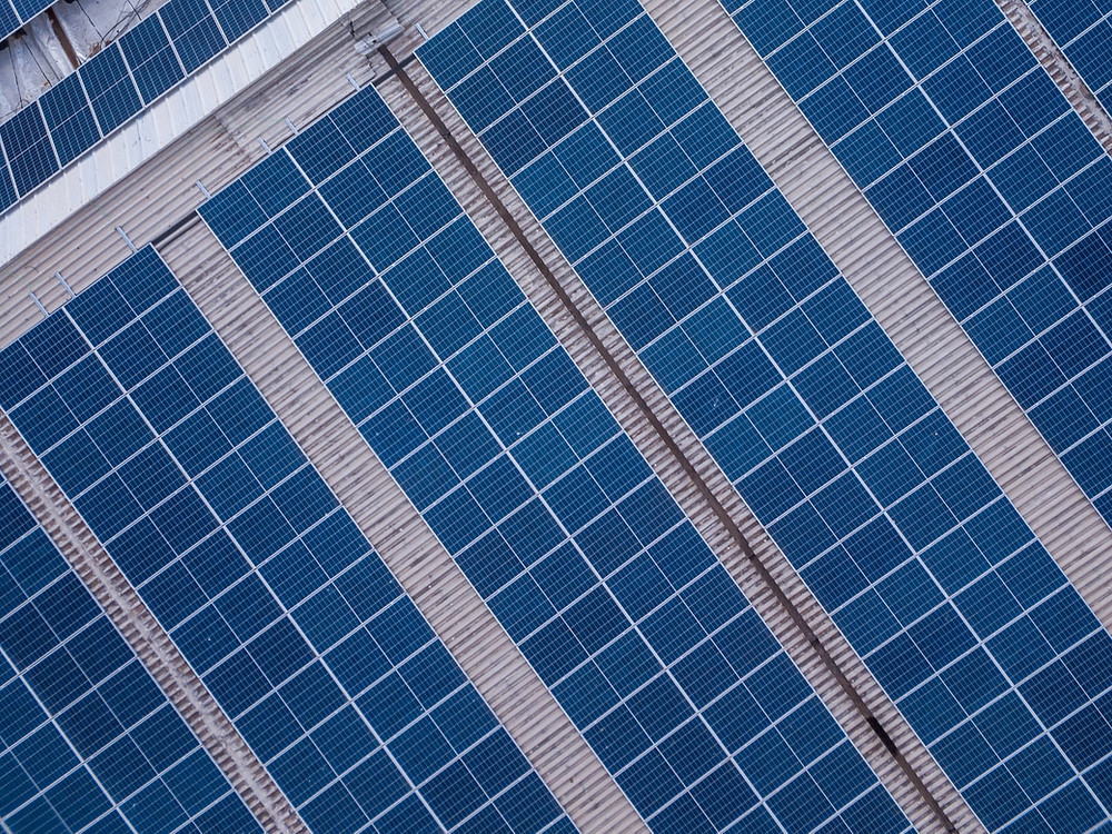 Solar modules installed on roof