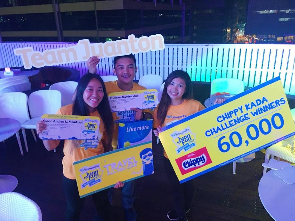Winning one year of free flights with my high school friends Dom and Chyn