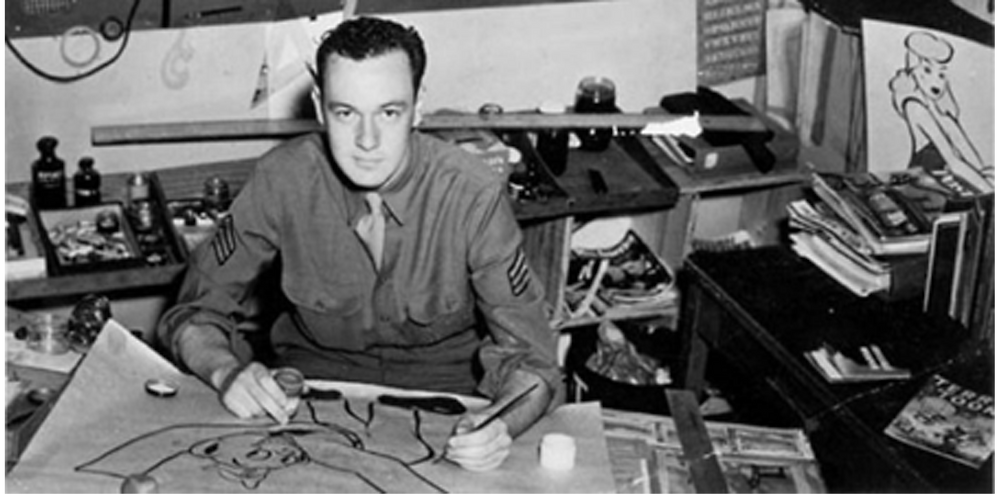 Stan Lee in the US army as a playwright.