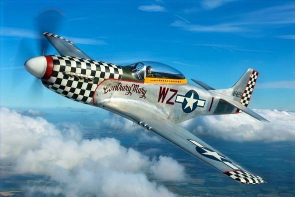 Fly in a Mustang with Ultimate Warbird Flights
