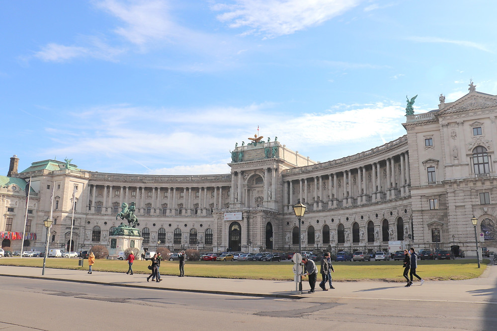 The Hofburg main residence of Habsburgs