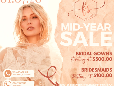 Ready for Five Seasons Bridal - MID-YEAR SALE?