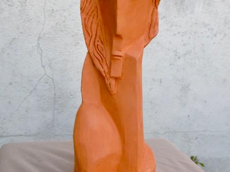 Sculpture , elles sortent du four:....