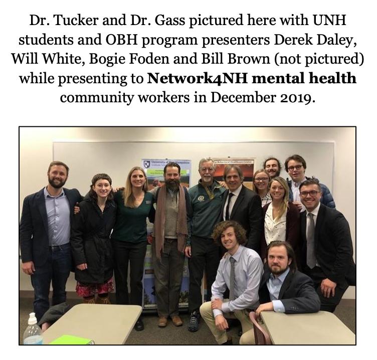 Derek Daley, Dr. Tucker, Dr. Gass, Mike Gass, Anita Tucker, Will White, Bogie Foden, Adventure, Therapy, Wilderness, UNH,