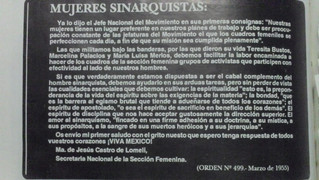 """""""LAS MUJERES SINARQUISTAS, LUCHAMOS CON ARDOR"""""""