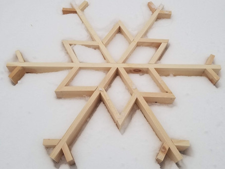 DIY Simple Wooden Snowflake: Woodworking with the Girls