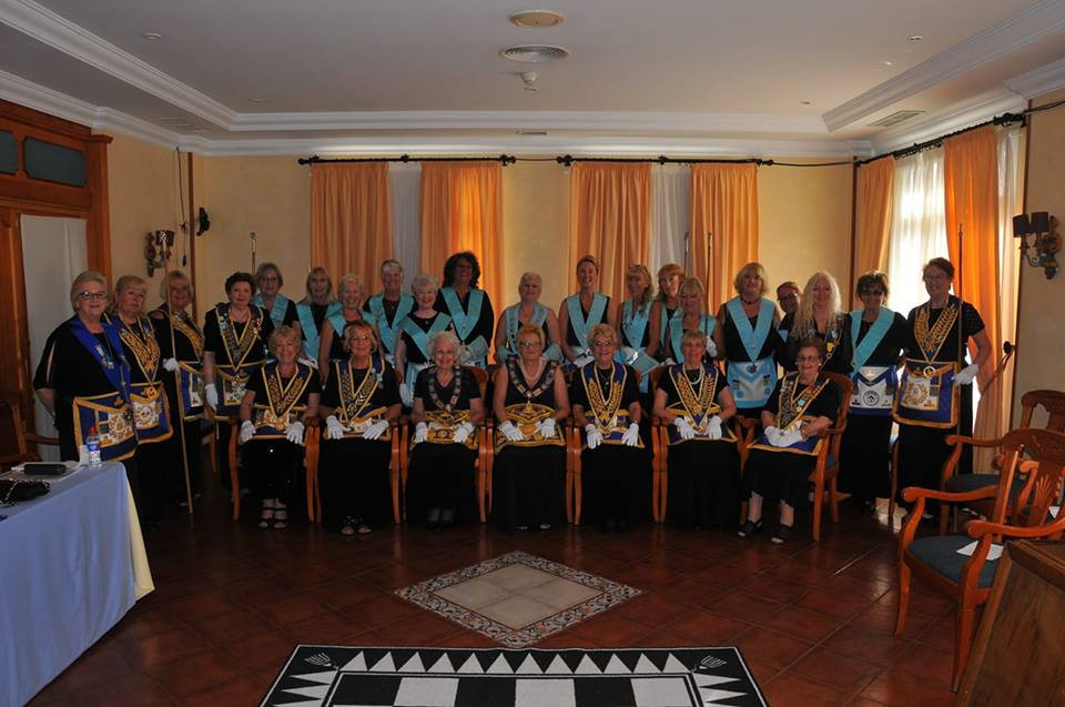 The istallation of my Wife with the Grand Master and Grand Lodge officers.