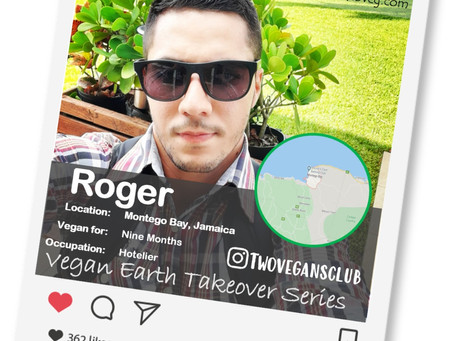 Introducing our Vegan of the week.....Roger!🌎💚🌱