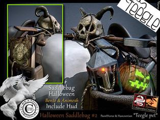ABSOLUT CREATION Halloween Saddle Bag #2