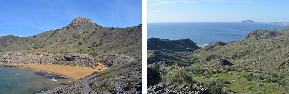 Calblanque y Calnegre. Espacios naturales. El Rollo Verde. Murcia.