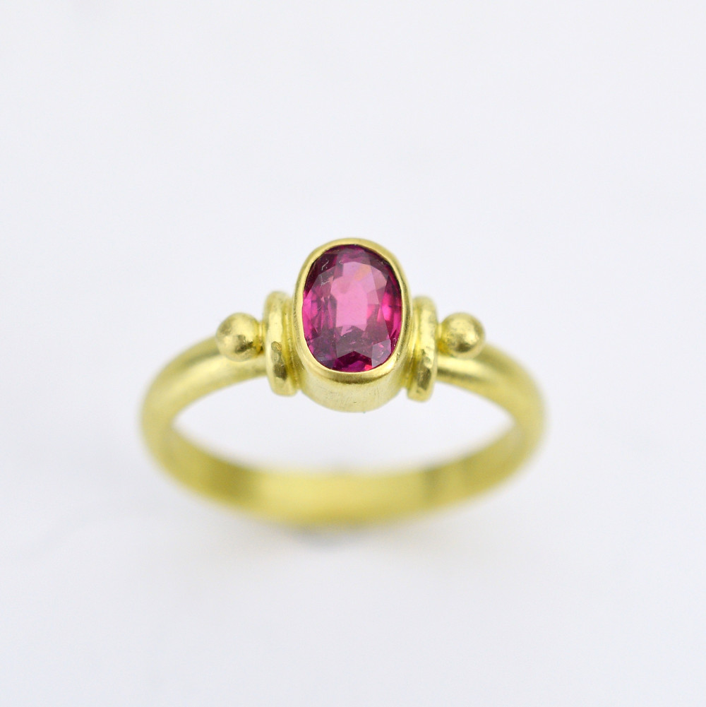 ruby ring in gold july birthstone