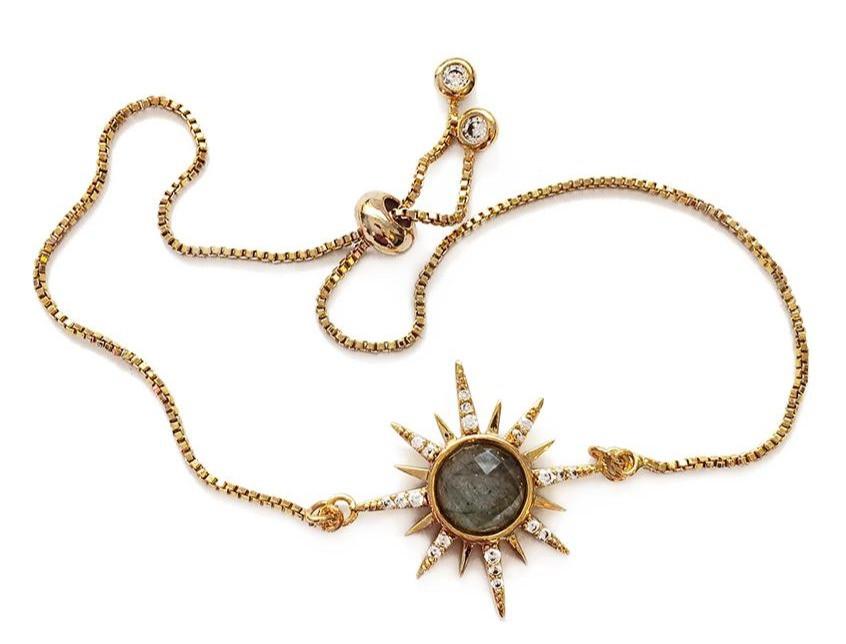Gemstone Starburst Bracelet