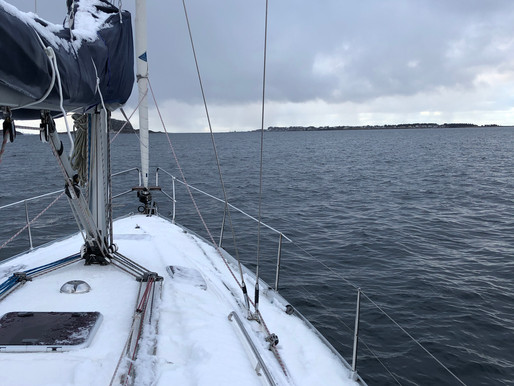 Årets første lille tur på sjøen.