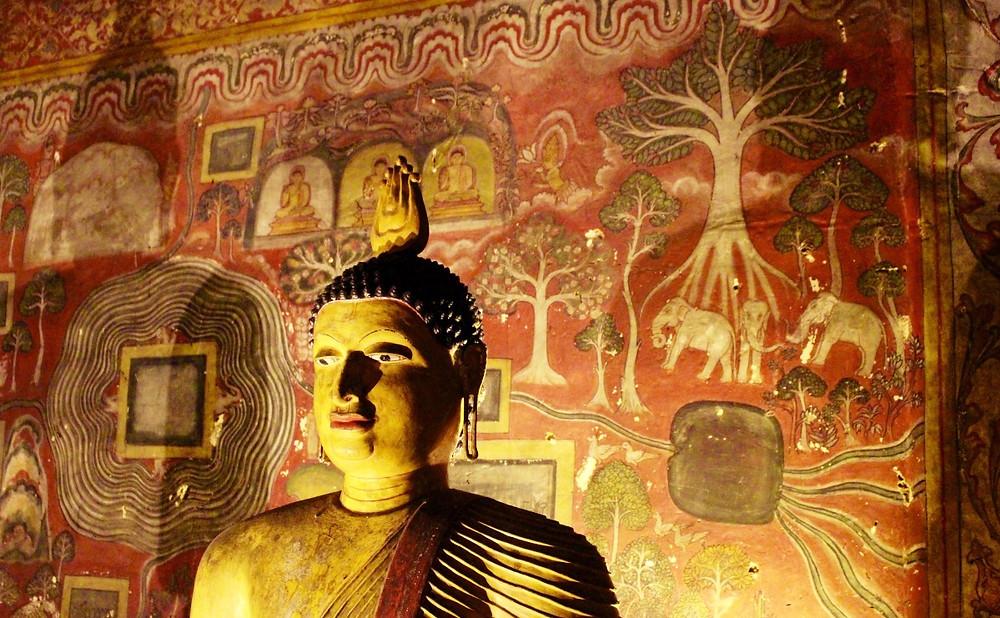 intérieur grottes de Dambulla Sri Lanka