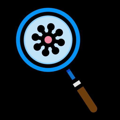 5859205 - devirus glass interfac magnifying virus