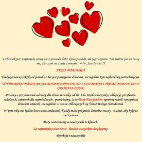 Akcja Dar Serca - zapraszamy do udziału!
