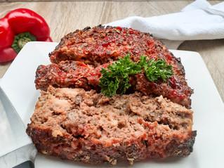 Grain-free Red Pepper Sauce Meatloaf