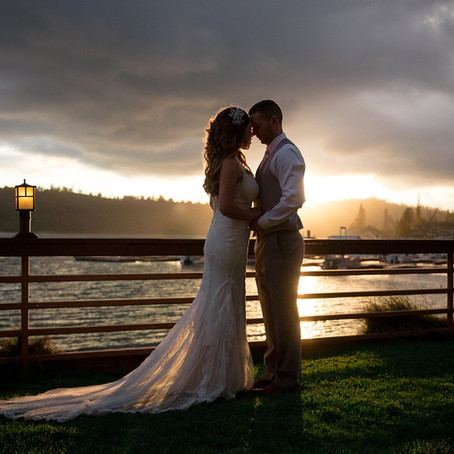 Lakeside Spring Ceremony | Bass Lake California Wedding Photographer