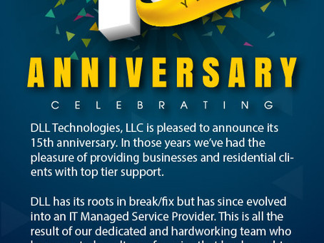 DLL Technologies 15th Year Anniversary