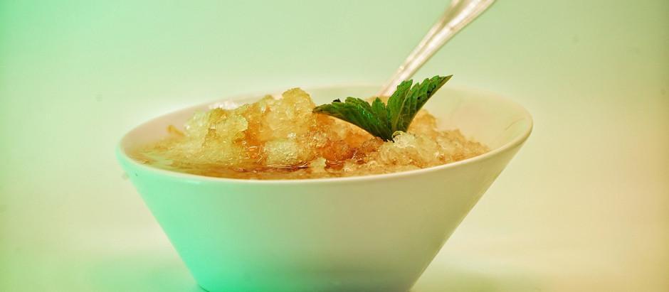 Lemon Snowball with Sweet Tea Syrup