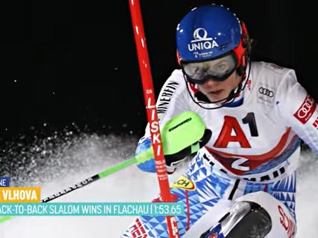 Petra Vlhova Wins Night Slalom in Flachau