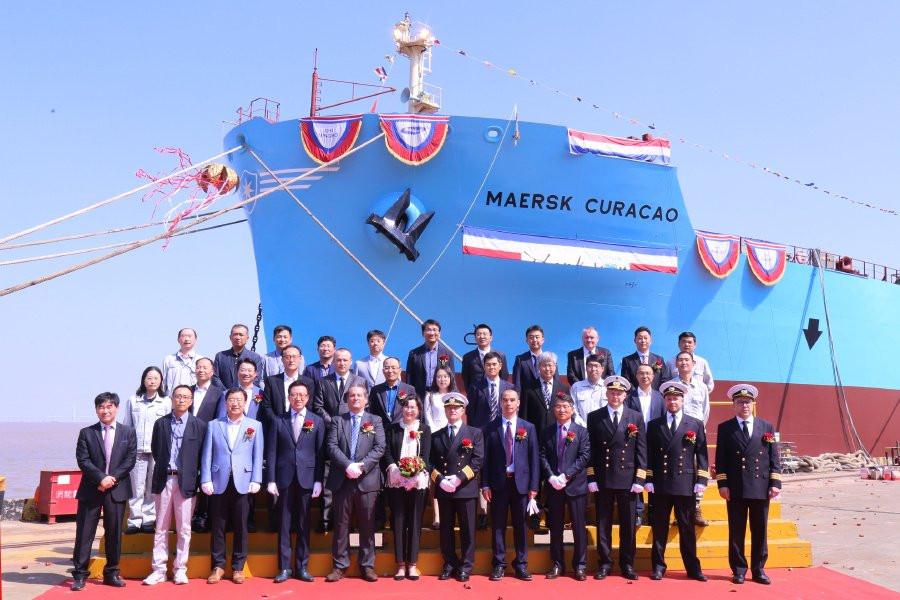 Церемония присвоения имени Maersk Curacao