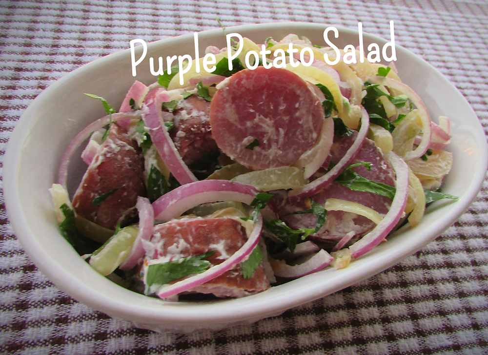 Purple Potato Salad with Avocado Mayo