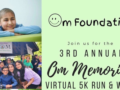 Om Foundation to Host Virtual Fall 5K