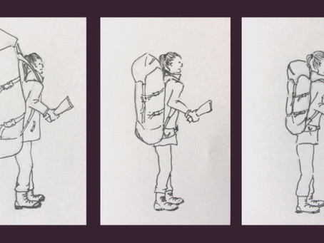 The three stage evolution of my wild camping rucksack