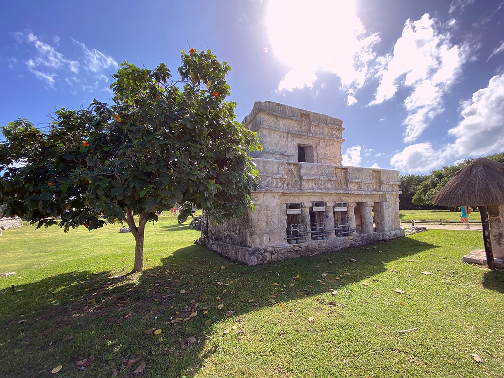 Temple of the Frescoes in Tulum Mayan Ruins by Biteinerary