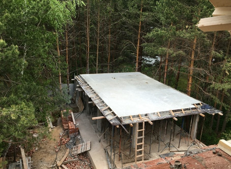 Casting Concrete Roof for Outdoor Living Space