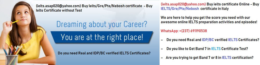 We (ielts asap020@yahoo com) sell registered IELTS & TOEFL