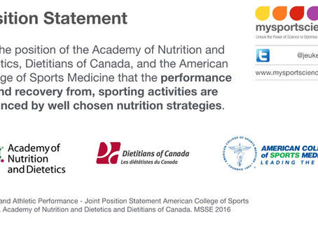 New position statement on Nutrition and Athletic Performance