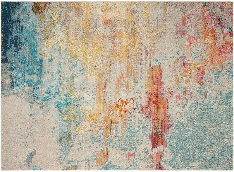 Rauscher Blue/Yellow Area Rug Size 160cm by 221cm £139.99