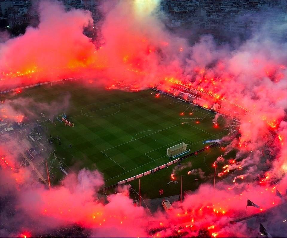 Paok's stadium in Thessaloniki, Greece.