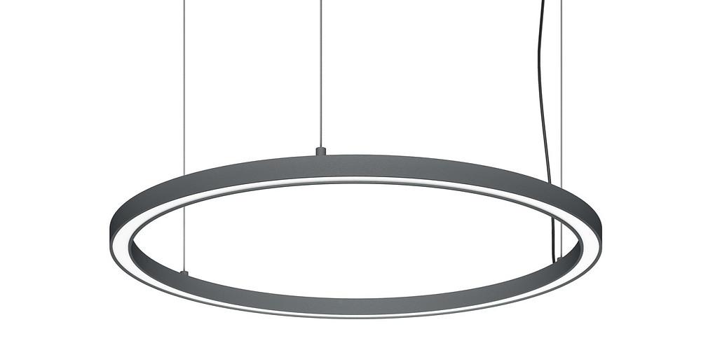 Iluminaçao Tromilux Luminária redonda candeeiro suspenso circular luz direta perfil fino LED fabricante português